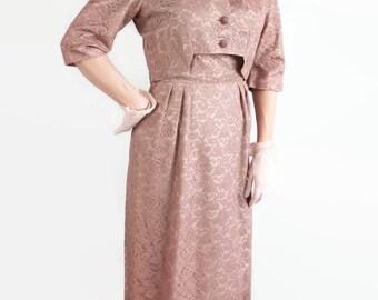 50s Wiggle Dress, Bolero Jacket, Lace, Vintage Wedding, Fashion Maker Original