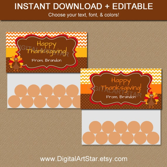 Thanksgiving Treat Bag Toppers Printable By Digitalartstar