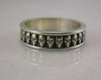 Narrow Skull Band (Sterling Silver, Bronze, Stainless Steel)(Narrow-5mm) (Sizes 4-13)