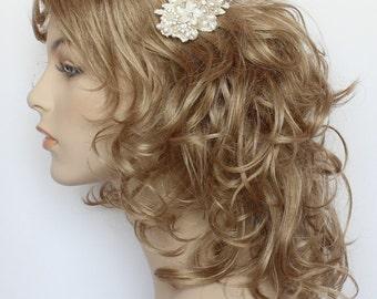 Bridal Hairpiece- Feather & Birdcage Veil Bridal Comb--Statement Bridal hairpiece- Feather Bridal Hairpiece- Wedding Hair Accessories- Clip