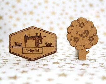 Cross Stitch Needle Minder, Cross Stitch Designs, Wood Magnetic Needle Minder. Hand embroidery, Needle Keeper. Bird on tree, Knit & Sew