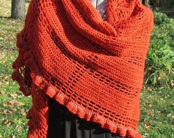 Pattern only - Fifth Avenue Shawl pattern crochet pattern shawlette triangle lace scarf