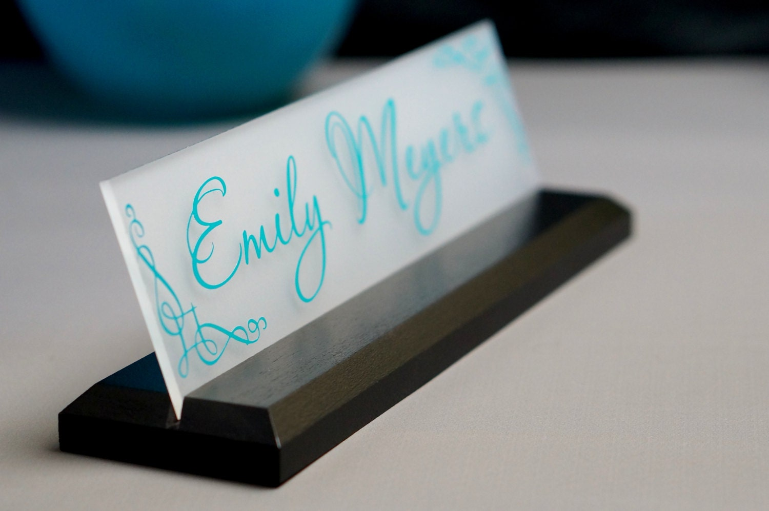 Name Plate: CoWorker Gift Desk NamePlate Personalized Professional Office