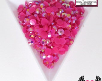 200 pcs 4mm AB HoT PINK RHINESTONES Flatback Great Quality / Decoden Crystal Phone Deco