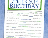 Birthday Mad Libs - Adult Birthday Party Game / Party Favor - (Printable  OR Printed)