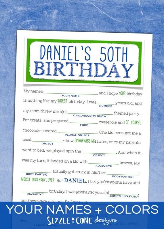 Birthday mad libs adult birthday party game by for Funny party themes for adults