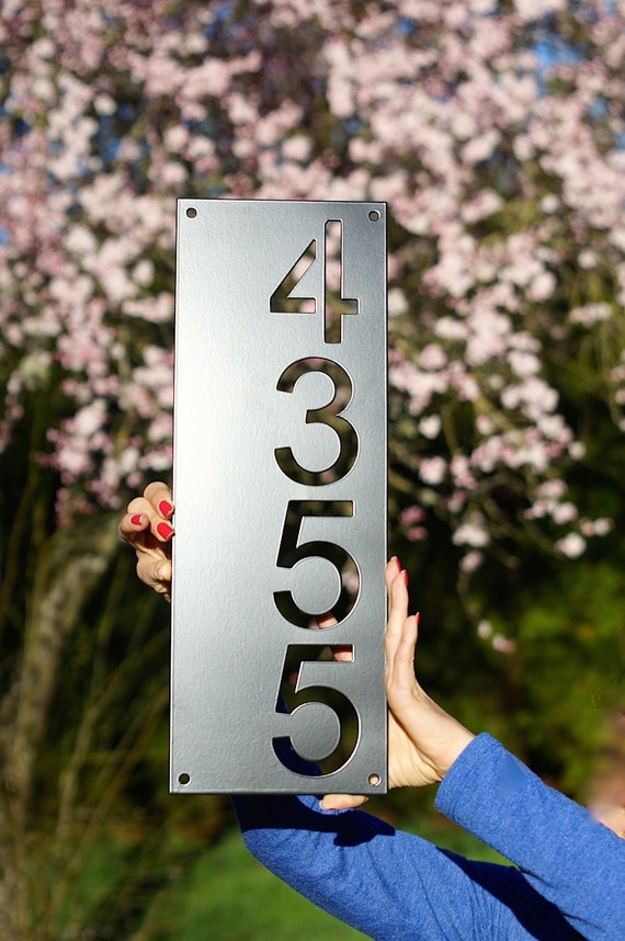 Modern House Numbers Vertical 6 3 X 17 6