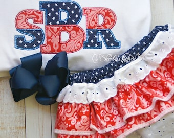 4th of July outfit- Girls patriotic set