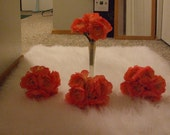 Bouquets Bridesmaid Coral Sunset Fabric Ranunculus Flower Peach 18.75 For The Group