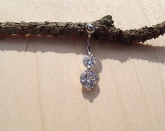 Belly Ring, Body Jewelry, belly ring, circle belly button ring, belly piercing, belly jewelry, cz unique navel ring, cz belly ring, silver