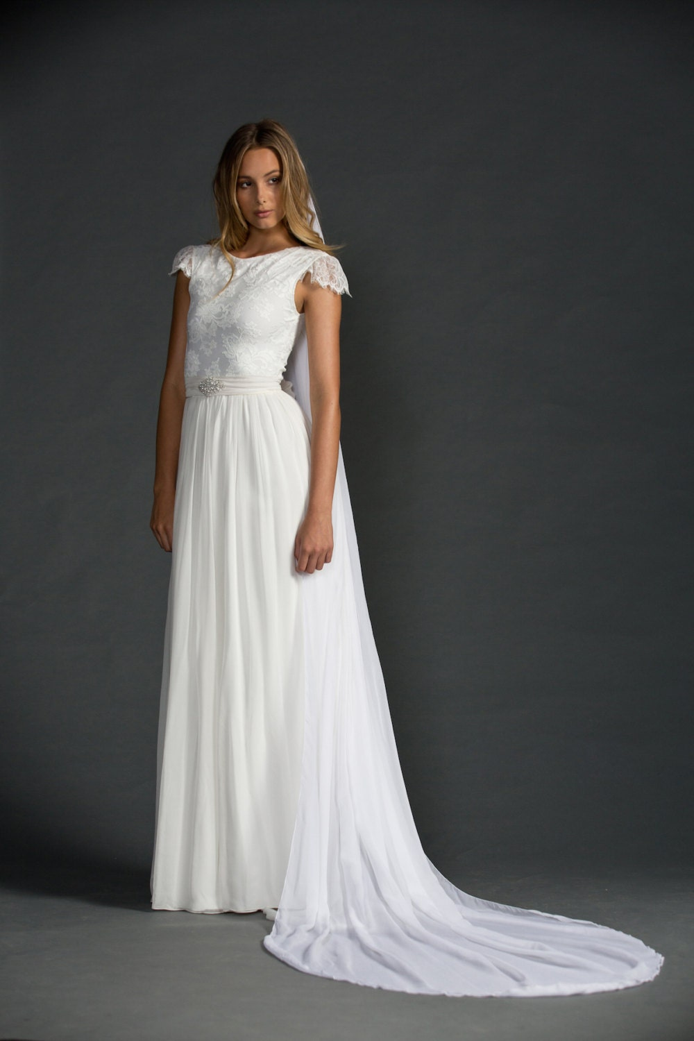 French Lace Low Back Wedding Dress French Lace Wedding Dress