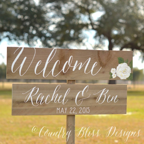 Wedding welcome sign calligraphy by