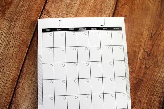 Monthly Calendar Book Month Calendar Baby Book