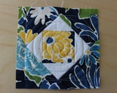 EMBROIDERY PATTERN 150 mm in-the-hoop quilt block - square-in-square block for 150 mm hoop