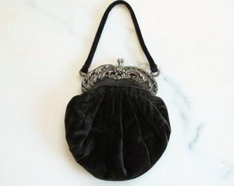 antique 800 silver purse / 1920s purse