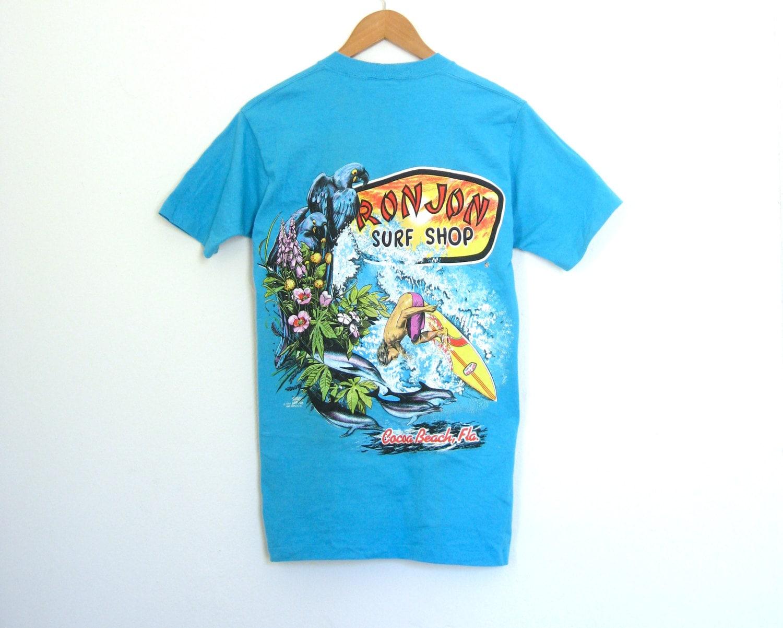 90s ron jon surf shop t shirt tropical surfer beach grunge ForSurf Shop Tee Shirts