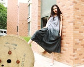vest dress linen maxi dress cotton maxi dress long dress irregular dress in color gray