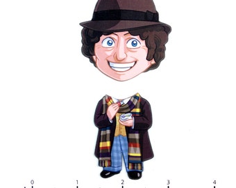 Mix and Match Magnets: Fourth Doctor (Doctor Who)