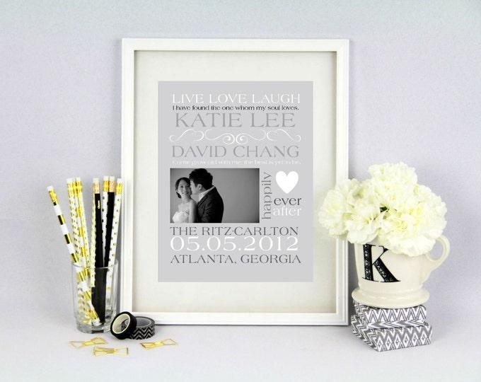 Wedding Announcement Customizable Word Art- Printable