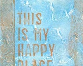 Happy Place original mixed media small artwork