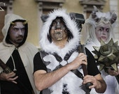 MADE TO ORDER Wolf Waistcoat Hooded Larp Man Costume Dress Furries Fantasy