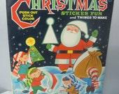 Vintage 1961 Christmas Sticker Fun Children's Activity Book Whitman