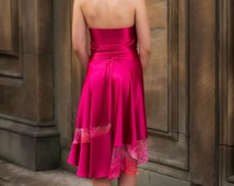 Tango Dance Skirt, silk chiffon and charmuese satin skirt, tango performance outfit, dance wear, silk skirt, tango milonga - Madame Sofia