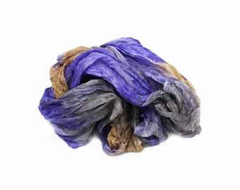 lilac silk scarf - February Sky  -   lilac, light brown, grey silk scarf.