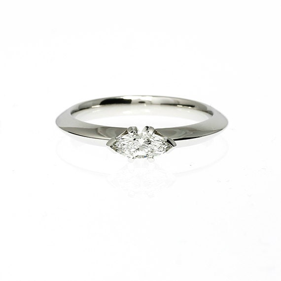 marquise cut engagement ring platinum by