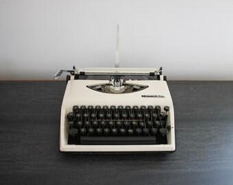 SCRIPT TYPEFACE - Tippa S Typewriter - script typewriter - white body black keys - cursive font