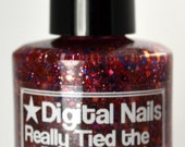 Really Tied the Room Together (did it not?) glitter nail polish, an homage to the Dude's rug by Digital Nails