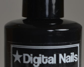 I see France, a  one-coat jet black undie polish by Digital Nails