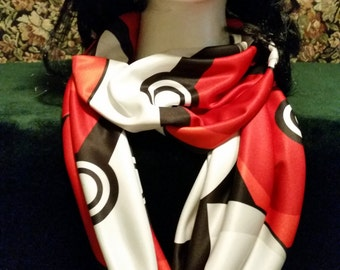 Pokemon-Inspired Pokeballs Scarf