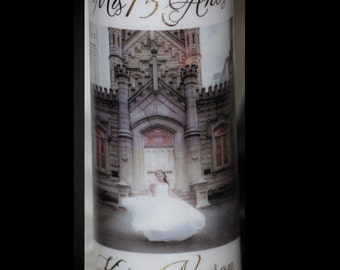 Personalized Candle, Quinceanera Candle, Memorial Candle,  Personalized Photo Gift, Special Occasion Gift