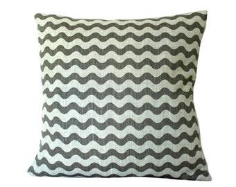 Studio Bon Ric Rac Pillow Cover In Dove Grey