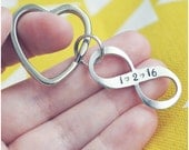 Wedding Date Infinity Keychain - Wedding Anniversary Keychain - Our Love is Forever - Personalized Key Ring - Heart Keychain
