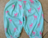 Mint And Pink Fawn Baby Toddler Harem Pants