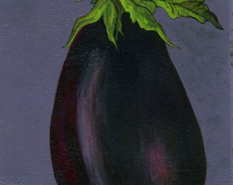 "Aubergine Vegetable Art - ""Eggplant"""