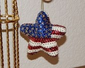 Hand Sequined Star Shaped Flag Ornament