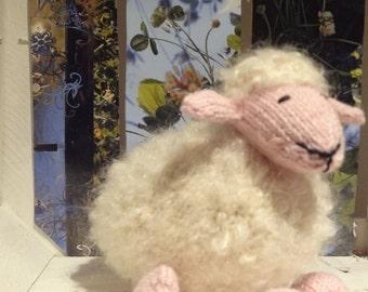 SHEEP Hand knit plush toy