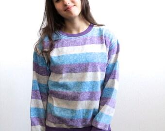 1990s nirvana STRIPED slouchy sweatshirt