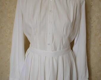 20 % Vintage 1940s white day dress