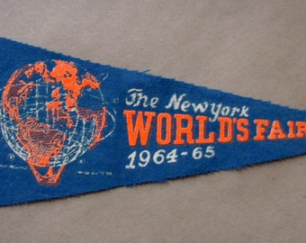 Vintage 1964-65 'The New York World's Fair', NY Mini Pennant