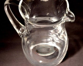 Glass Pitcher Blown Glass Pitcher Juice Beer 54 oz Ounce