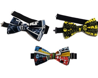 Star Wars Bow Tie--Star Wars Comic Bow Tie--Comic Book Bow Tie--Adjustable Neck Strap, Pre Tied--Comic Con, Gifts for Him