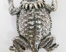 Horny Toad (Short-horned Lizard) Lapel: Pewter