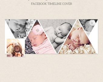 Facebook Timeline Cover - Facebook Timeline Template - PSD Template - Customize Facebook Page - Instant Download - F209