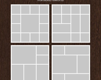 20x20 Photo Storyboard Templates - Photo Collage Template - PSD Template - Resize to 10x10 - For Photographers - Instant Download - S212