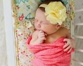 Pale Yellow Baby Headband, Newborn Headband, Newborn Baby Headband, Infant Headbands, Headbands Babies, Headbands for Baby, Babies Headbands