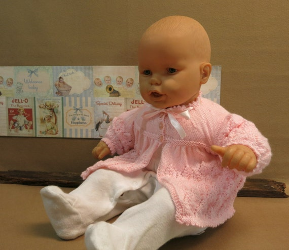 Handmade Baby Gifts Australia : Baby clothes knitted newborn matinee jacket shower